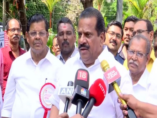Kerala Industries Minister EP Jayarajan speaking to reporters on Tuesday. Photo/ANI