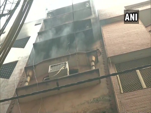 The visual from the the site where fire has broken out on Monday. (Photo/ANI)