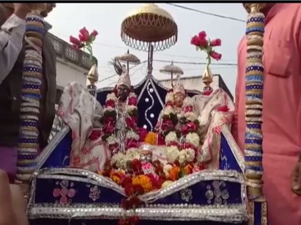 Idols of Lord Krishna and Radha taken to court in Madhya Pradesh on Wednesday. (Photo/ANI)