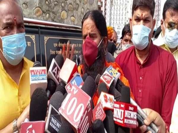 Yoga guru Ramdev speaking to ANI in Haridwar on Wednesday. [Photo/ANI]