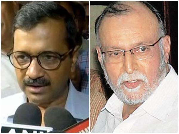 AAP national convenor Arvind Kejriwal (l) and Lieutenant Governor Anil Baijal.