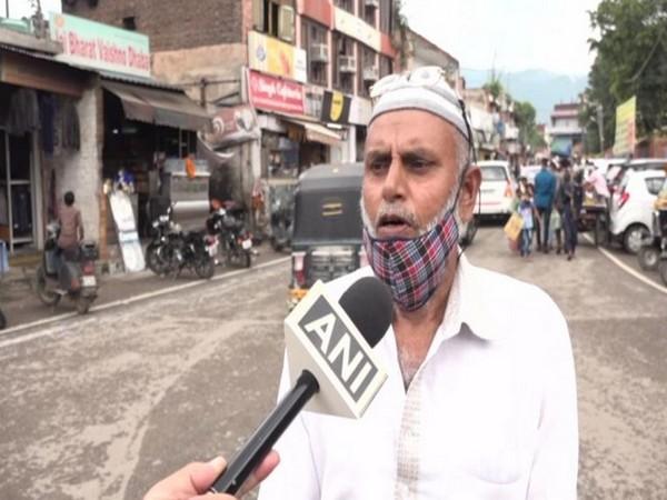 Hajji Gulam Rasool Nawazi, a resident of Udhampur speaking to ANI, in Jammu and Kashmir's Udhampur on Wednesday. [Photo/ANI]