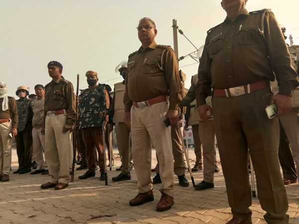 Security forces at Palwal railway station ahead of rail roko