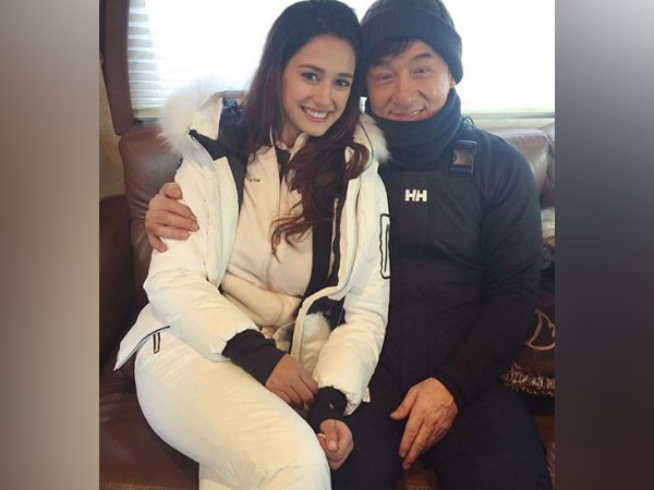 Disha Patani with Jackie Chan (Image Source: Instagram)