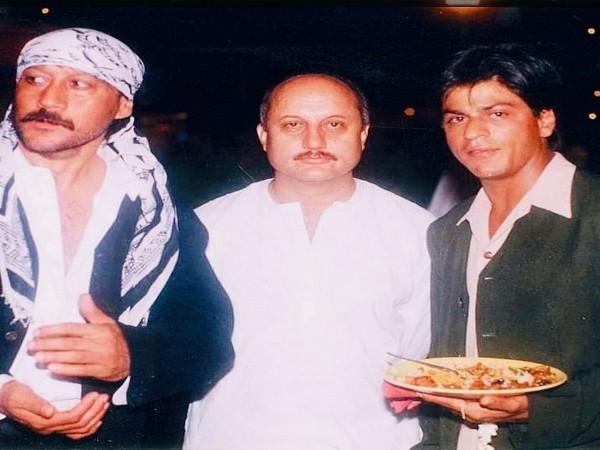Jackie Shroff, Anupam Kher and Shah Rukh Khan (Image Source: Instagram)