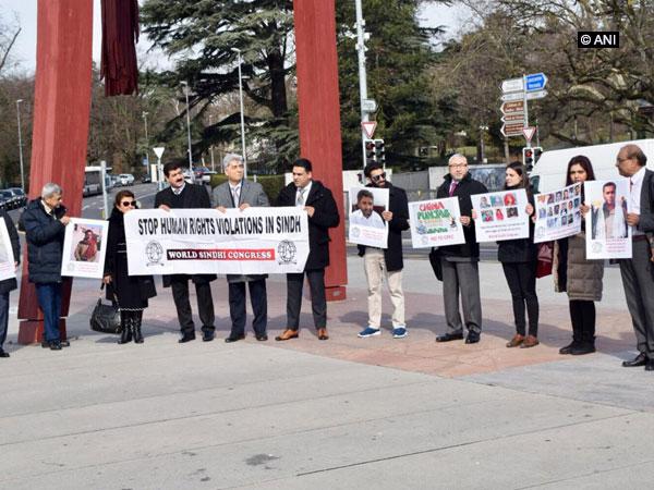 Activists of PoK, Sindh, Balochistan, Khyber at demonstration against Pakistan in Geneva
