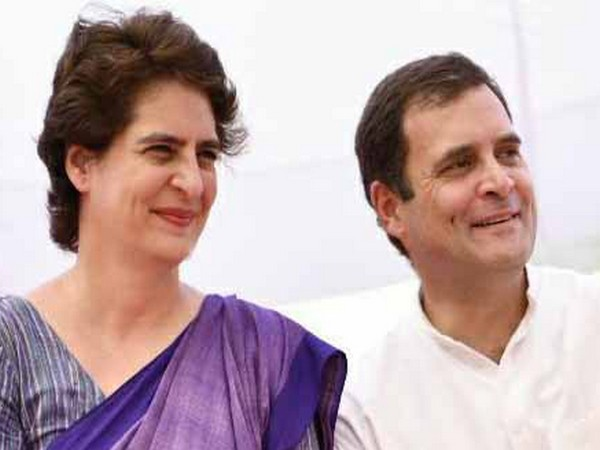 Congress leaders Priyanka Gandhi Vadra and Rahul Gandhi. Photo/ANI
