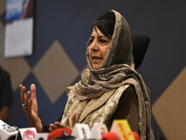 PDP leader Mehbooba Mufti. File photo/ANI