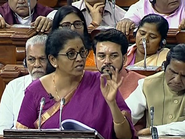 One of the moments in Nirmala Sitharaman's budget speech in LS