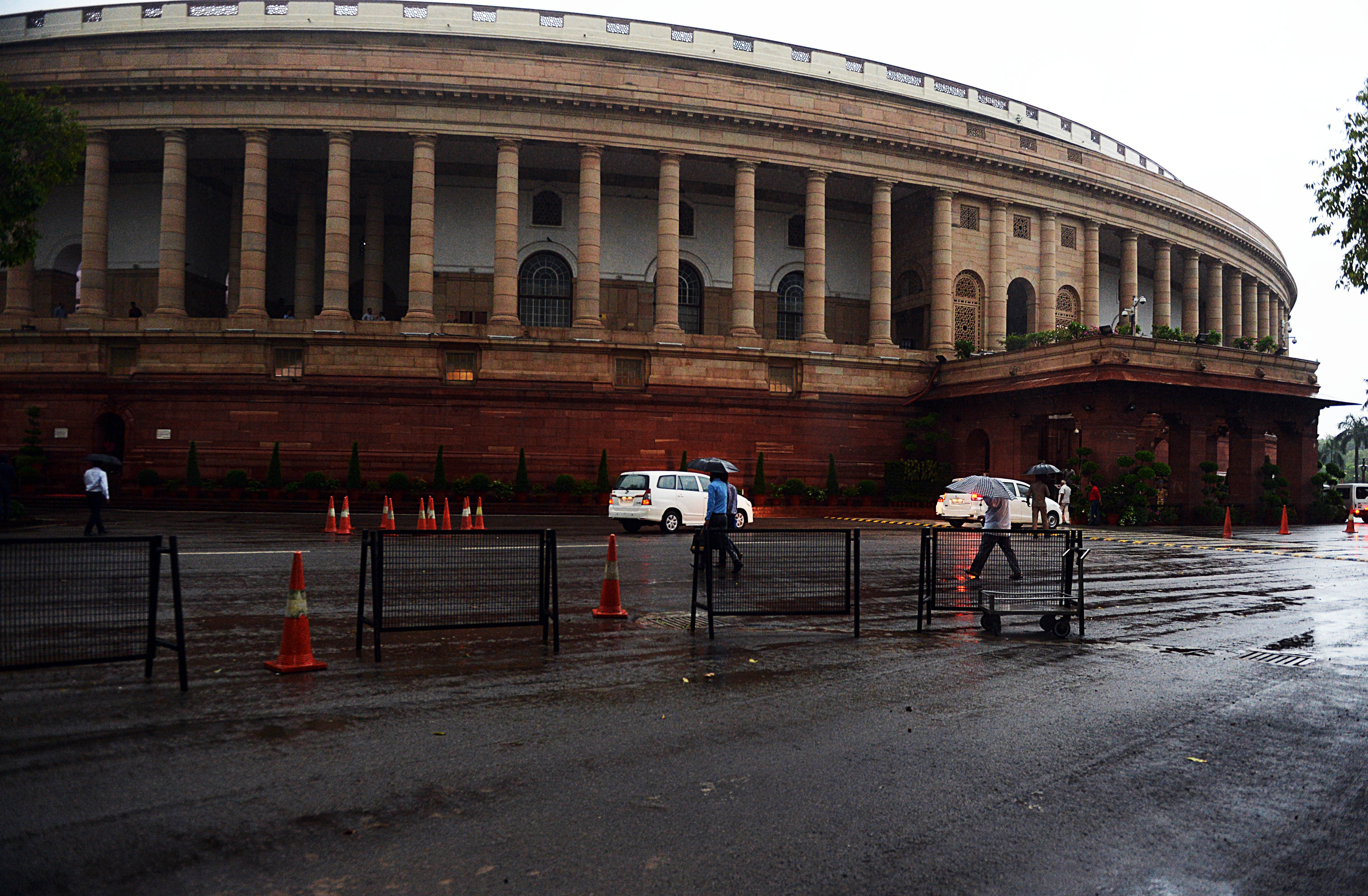 A view of Parliament of India