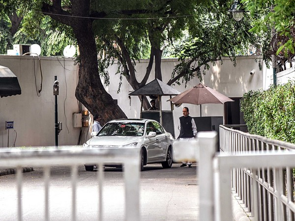 Congress leader Ghulam Nabi Azad leaves 10 Janpath after a meeting in New Delhi last month. [File Image]