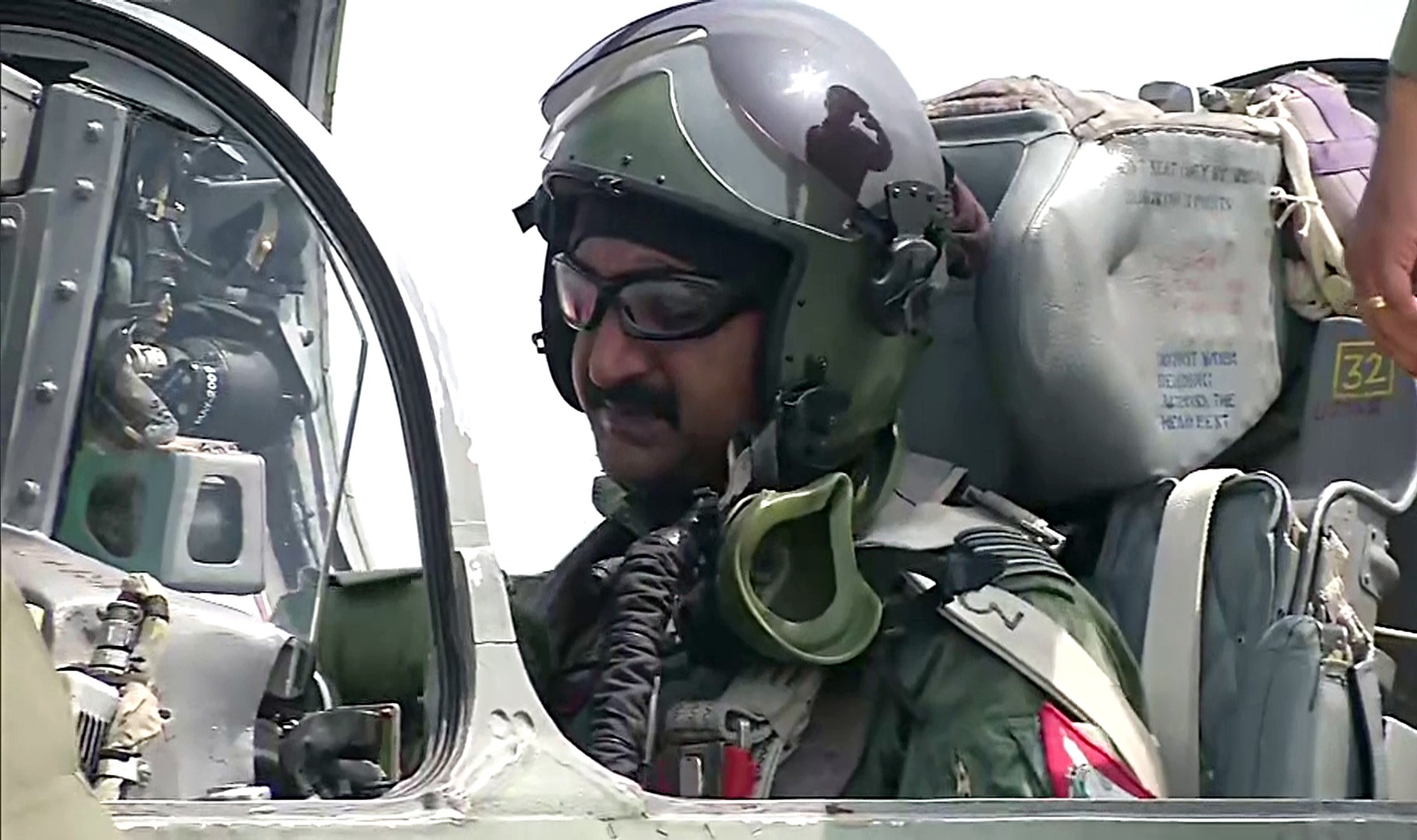 Wing Commander Abhinandan Varthaman takes first aerial stroll on Sunday after getting his flying category back. (Photo/ANI)