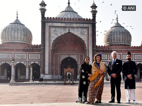 Swedish Royal Couple visited the Jama Majid on Monday