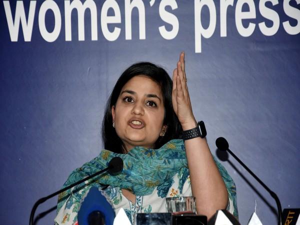 Iltija Mufti speaking at a press conference in Delhi on Tuesday. Photo/ANI