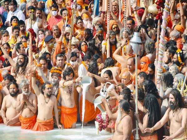 Saints at the Kumbh in Haridwar. (File photo)