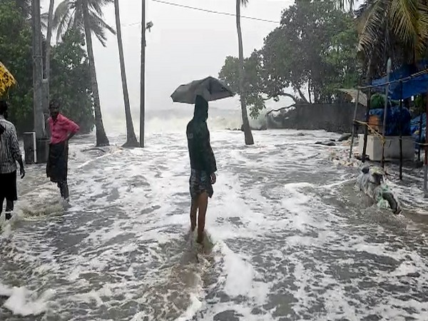 Strong winds hit Kerala's coastal areas on Friday. (Photo/ANI)