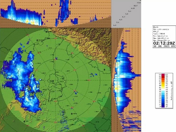 Visual representation of rainfall likely to occur in parts of India. (Pic credit: IMD Twitter)