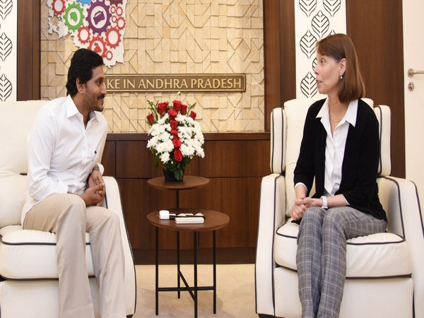 Regional Director of South Asia Human Resources Branch of World Bank, Sherbern Benz, met AP Chief Minister YS Jagan Mohan Reddy here on Tuesday. Photo/ANI