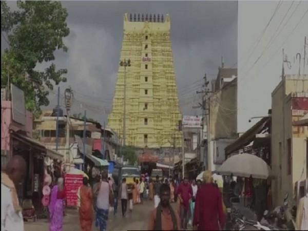 Ramanathaswami temple in Rameswaram. Photo/ANI