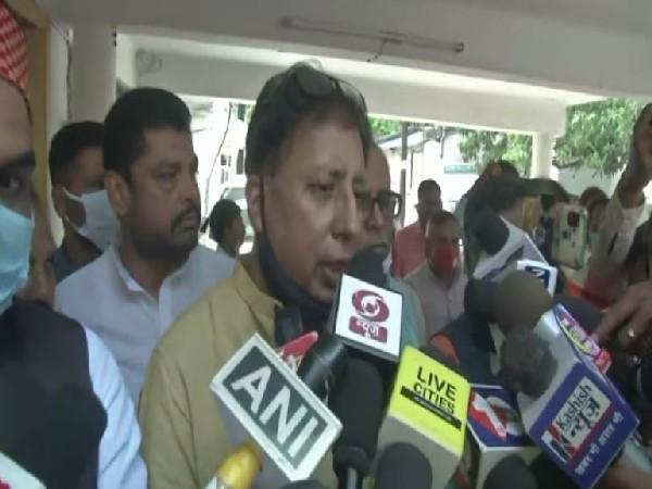 Bihar BJP President Sanjay Jaiswal speaking to reporters in Patna on Wednesday. [Photo/ANI]