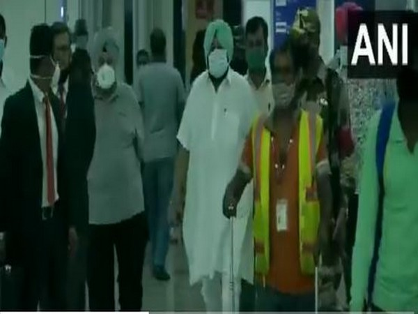 Captain Amarinder Singh arrives in Delhi on Tuesday. [Photo/ANI]