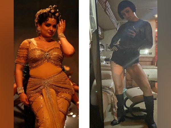 Looks of Kangana Ranaut from 'Thalaivi' and 'Dhaakad' (Image source: Instagram)