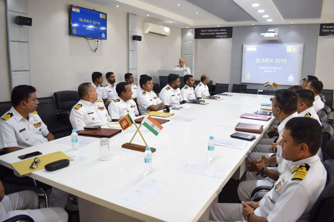 The seventh edition of the bilateral Maritime Exercise between Sri Lanka – India, SLINEX 2019 commences