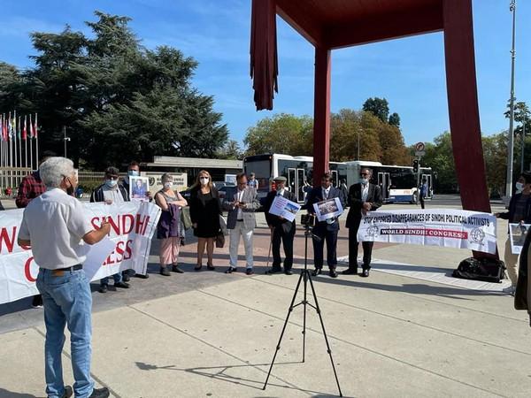 World Sindhi Congress held protest in Geneva against Pakistan