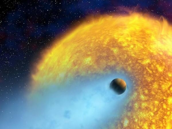 An artist's conception of HD 209458 b. (Photo- NASA/European Space Agency/Alfred Vidal-Madjar (Institut d'Astrophysique de Paris, CNRS)