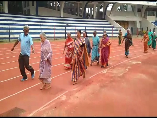 Around 250 senior citizens participated in the sports meet in Bengaluru (Photo/ANI)
