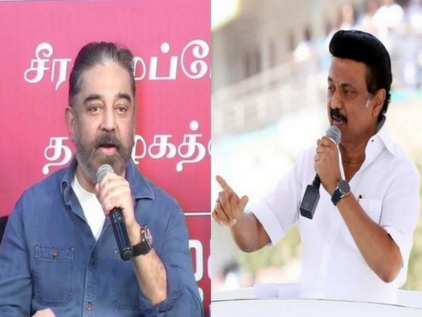 Kamal Hassan (left) and DMK Chief MK Stalin. (File photo)