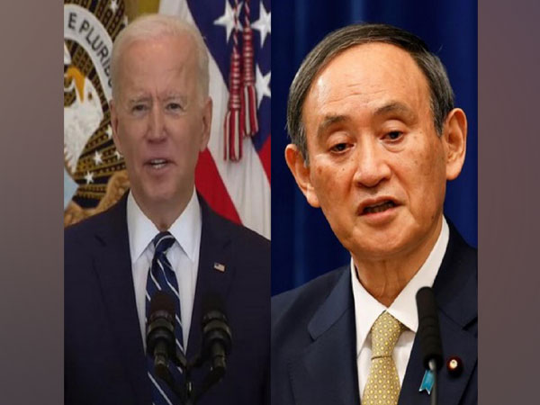 United States President Joe Biden and Japanese Prime Minister Yoshihide Suga