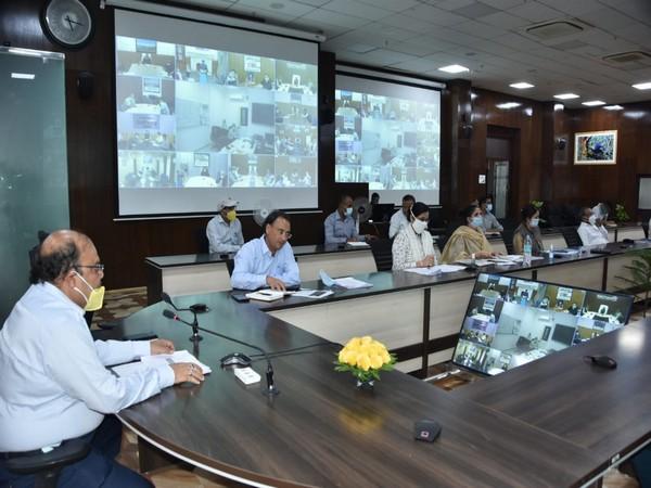 Uttarakhand Chief Secretary Om Prakash at the meeting. [Photo/ANI]
