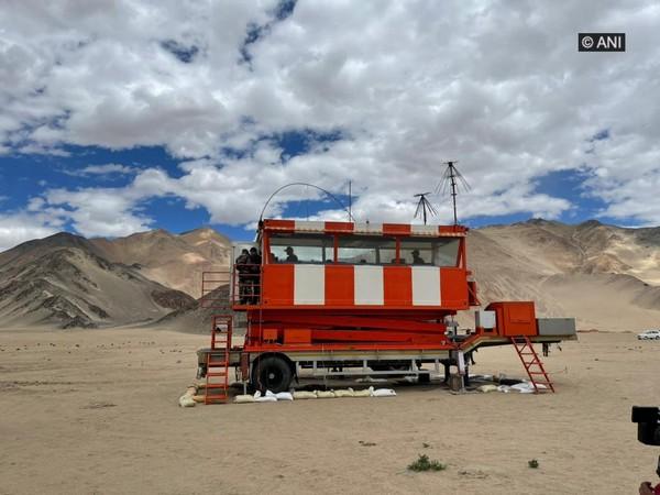 IAF's ATC Tower in Nyoma, Ladakh. (Photos/ANI)