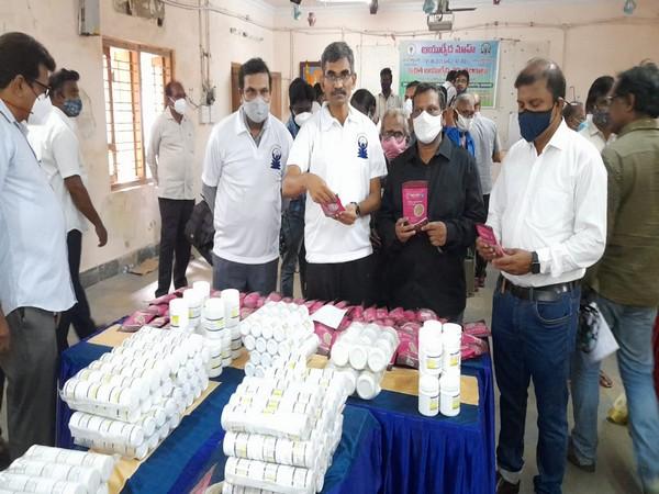 Ayurvedic medical camp in Vijayawada (Photo/ANI)