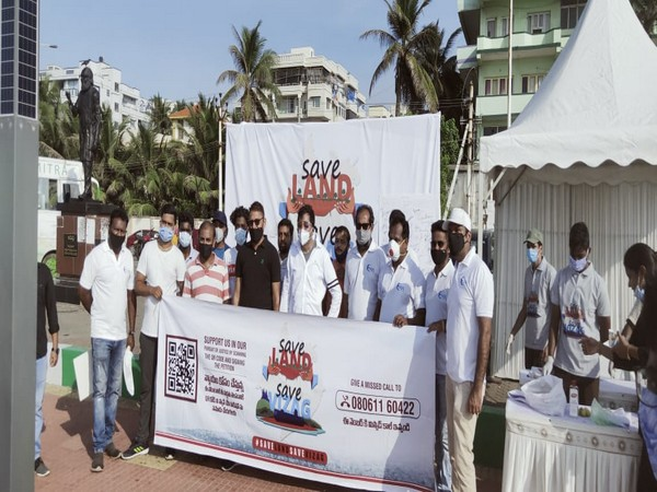 Vizag residents at the 'Save Land, Save Vizag' campaign.