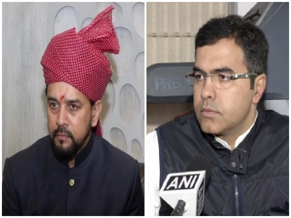 Union MInister Anurag Thakur and BJP MP Parvesh Verma (file pic)