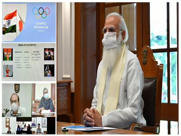 Prime Minister Narendra Modi holds review meeting regarding Olympic preparations. (Photo/ PIB)