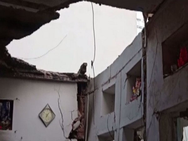Three dead, four injured in roof collapse due to blast in Chittorgarh on Friday. [Photo/ANI]