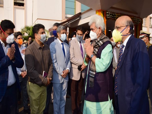 Jammu and Kashmir Lieutenant Governor Manoj Sinha at the Civil Secretariat on Monday. (Photo/ANI)
