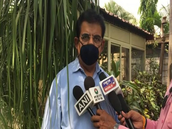 BJP MP Shankar Lalwani speaking to reporters in Indore on Saturday. [Photo/ANI]
