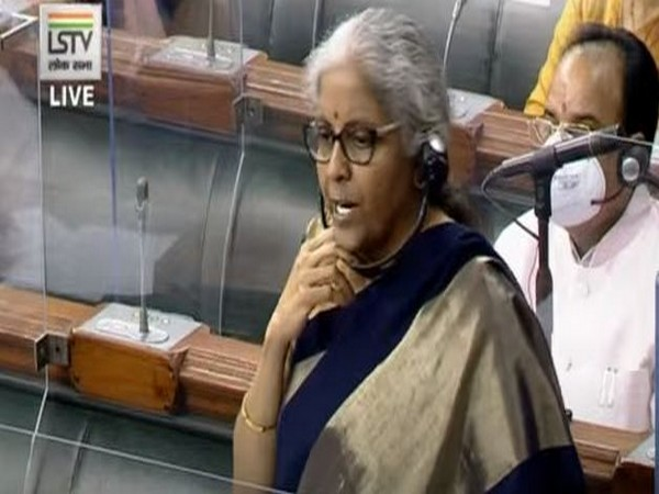 Union Finance Minister Nirmala Sitharaman speaking in the Lok Sabha on Friday.