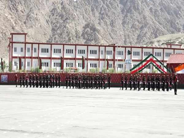 Passing-out parade at Ladakh Scouts Regimental Centre on Saturday. [Photo/ANI]