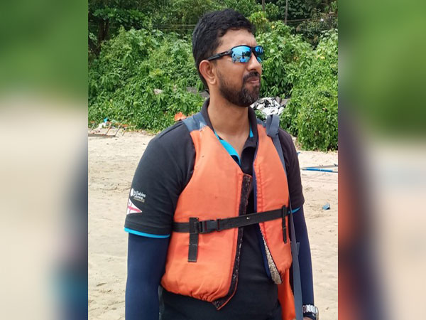 Commander Abhilash Tomy participated in the sailing event in Goa. Photo/ANI