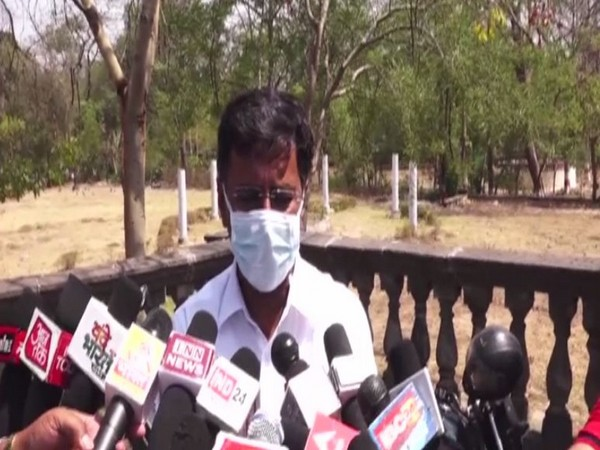 District collector Manish Singh speaking to ANI. (Photo/ANI)