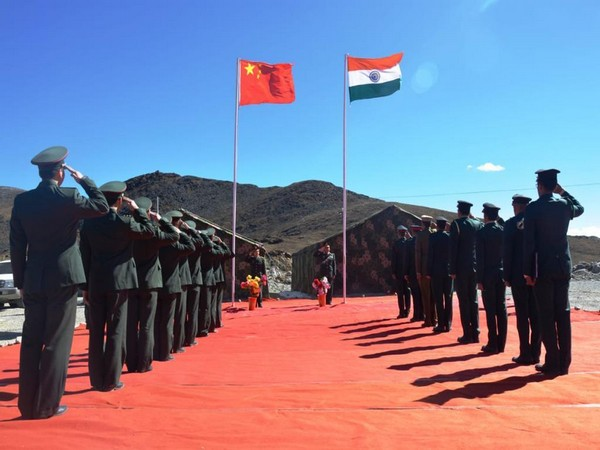 File photo of Indian Chinese soldiers during border personnel meeting