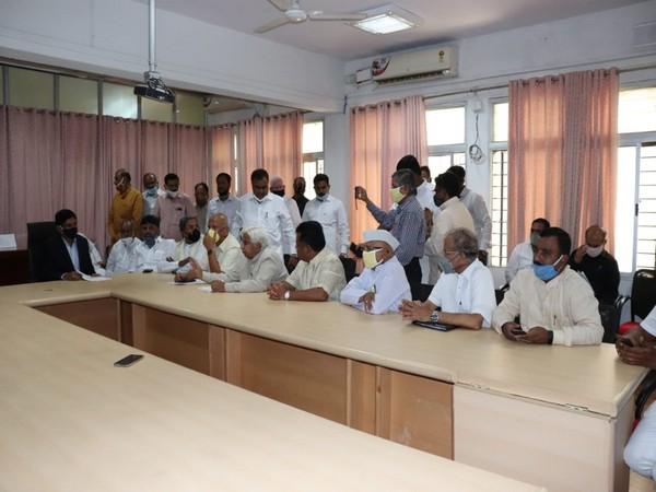 Karnataka Congress delegation met Chief Election Officer at Bengaluru on Friday (Photo/ANI)