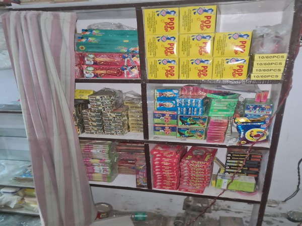About 34.6 kilograms of firecrackers were seized. (Photo/ANI)