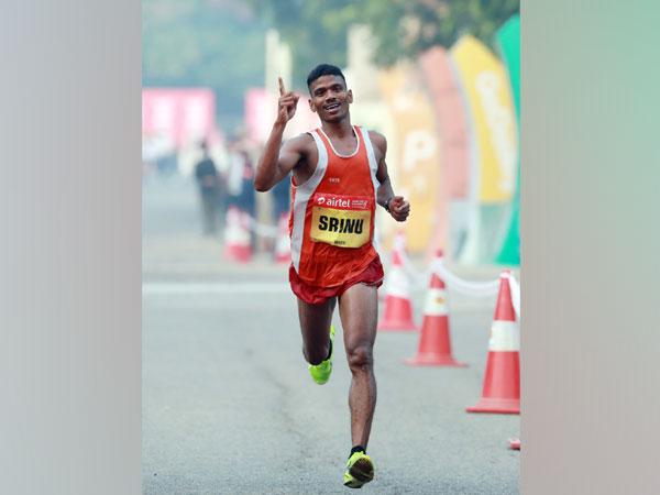 Indian marathon runner Srinu Bugatha