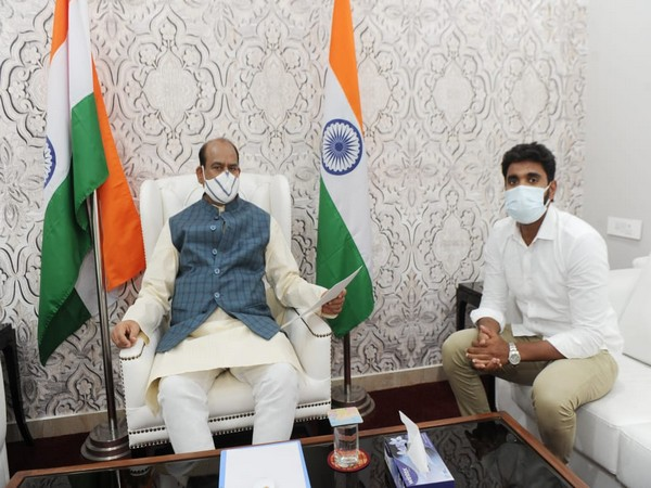 YSRCP Lok Sabha Chief Whip Margani Bharat with Speaker Om Birla. (Photo/ANI)